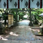 氷川神社 赤阪 本殿から入り口方面を望む